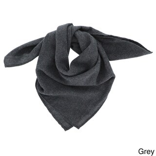 LA77 Grey Woolen Square Bandana Scarf