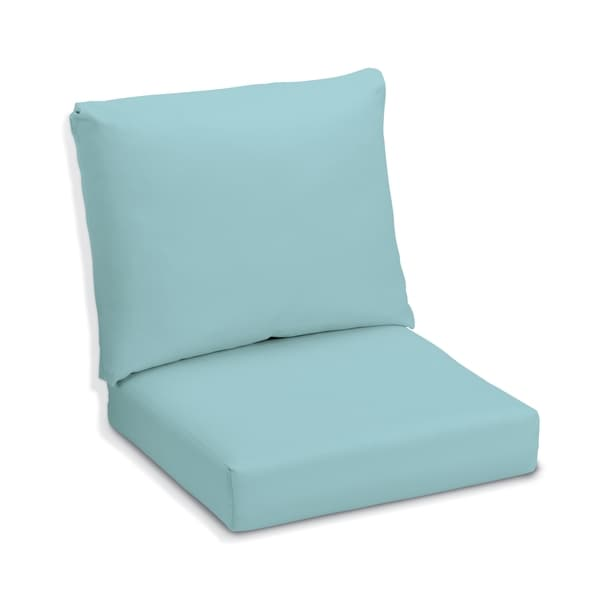 Oxford Garden Mineral Blue Sunbrella Cushion for Sienna Chairs