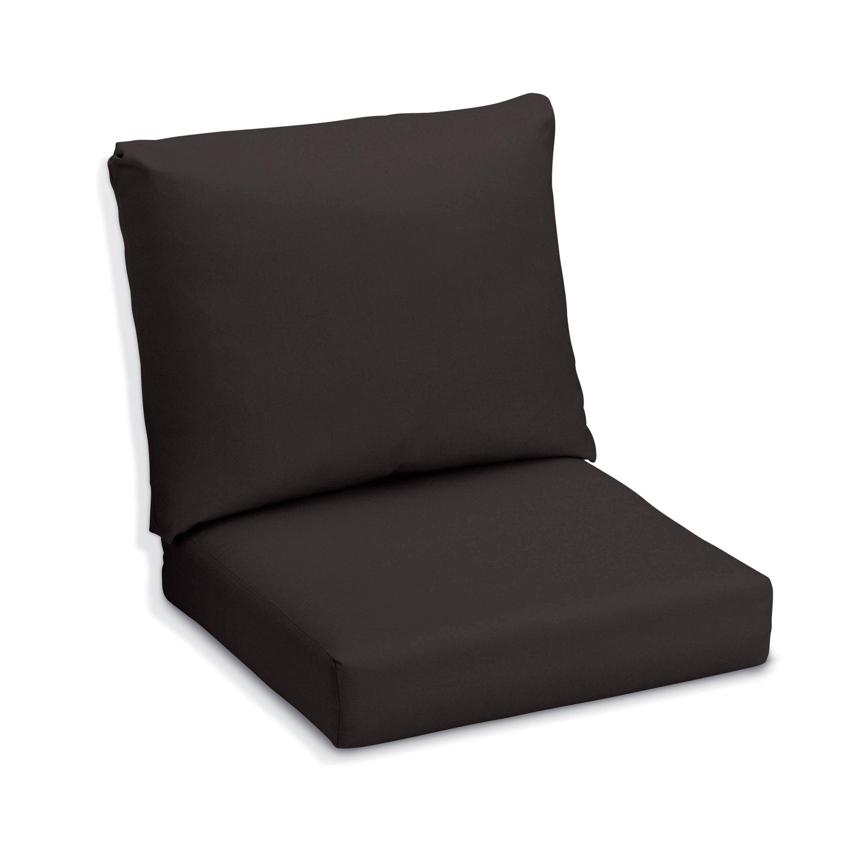 Oxford Garden Black Sunbrella Cushion for Sienna Chairs & Sofa (Black)