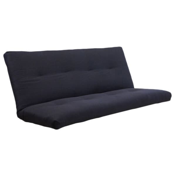 Medium image of somette black twill coil hinged futon mattress