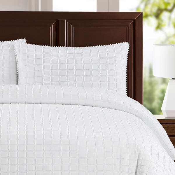 shop newport cotton 3 piece duvet cover set on sale free