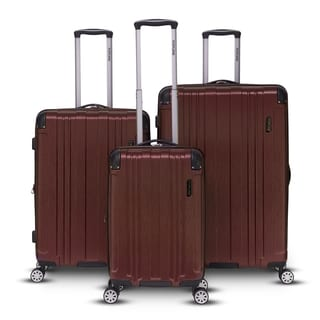 Topline Bravo Collection 3-piece Hardside Spinner Luggage Set