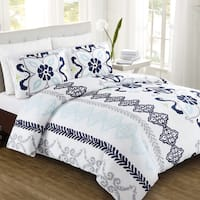 Zahara Cotton Sateen 3-Piece Duvet Cover Set