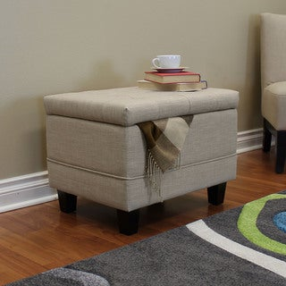 Link to Porch & Den Avon Beige 24-inch Ottoman Similar Items in Living Room Furniture