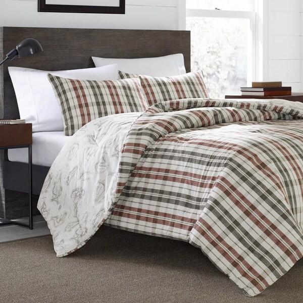 Eddie Bauer Point Permit Plaid Cotton 3-Piece Comforter Set