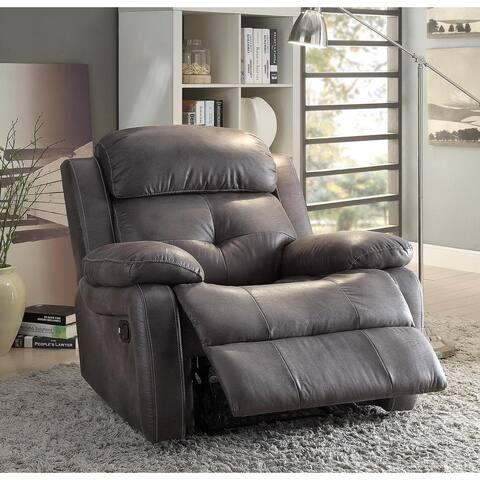 Acme Furniture Ashe Grey Microfiber Recliner