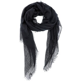 Solid-colored Oblong Wrap Scarf