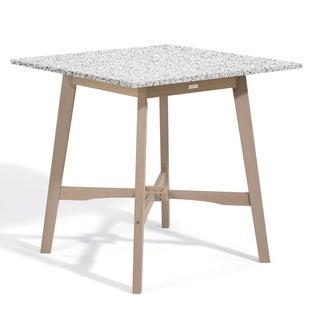 Oxford Garden Wexford 42-inch Lite-Core Granite Ash Bar Table with Grigio Shorea