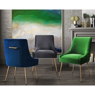 Beatrix Grey Velvet Side Chair