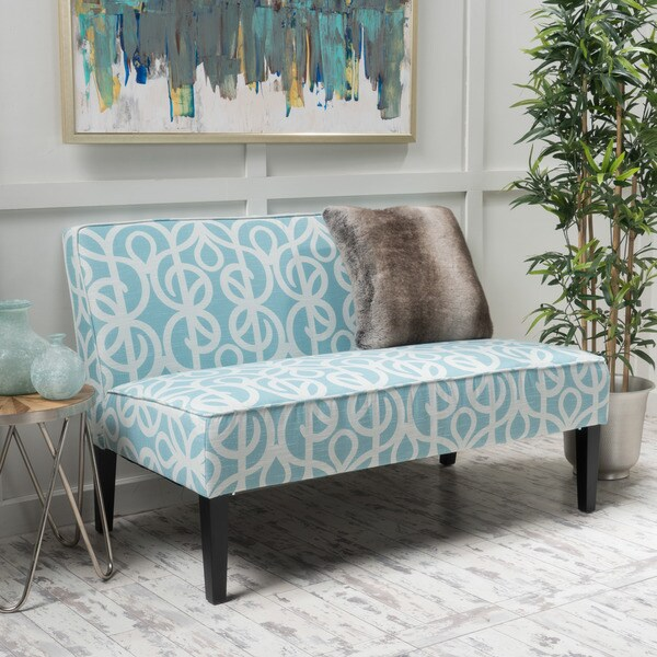 Dejon Patterned Fabric Loveseat by Christopher Knight Home