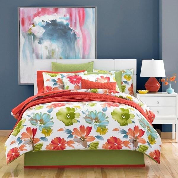 Five Queens Court Madie Citrus Cotton 4-piece Comforter Set