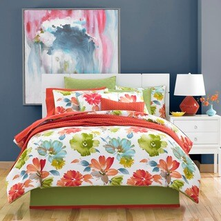 Five Queens Court Madie Citrus Cotton 4-piece Comforter Set