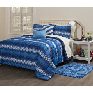 Formula Indigo Ikat 9-piece Bed in a Bag Set