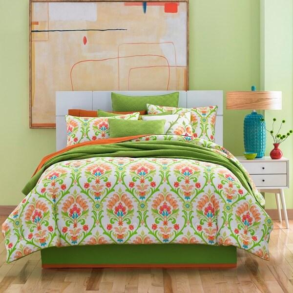 Five Queens Court Palmetto Citrus 4 Piece Cotton Comforter Set