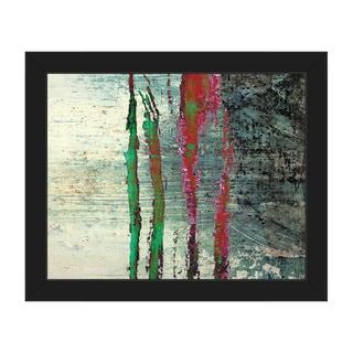 Shintaka Espresso Framed Canvas Abstract Wall Art Print