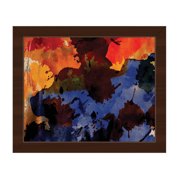 Shaman Framed Canvas Abstract Wall Art Print