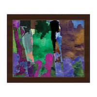 Purple Forest Framed Canvas Wall Art Print
