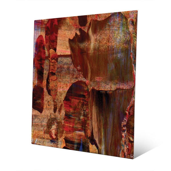 'Red Valley Beginning' Abstract Metal Wall Art