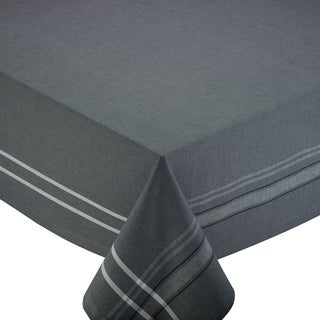 Grey French Chambray Cotton 60 x 84 Tablecloth