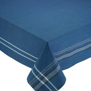 French Blue Cotton 60-inch x 104-inch Chambray Tablecloth