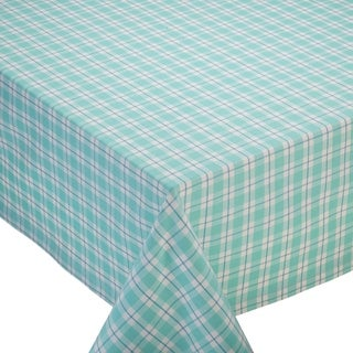 Dewdrop Cotton Plaid 60-inch x 84-inch Tablecloth
