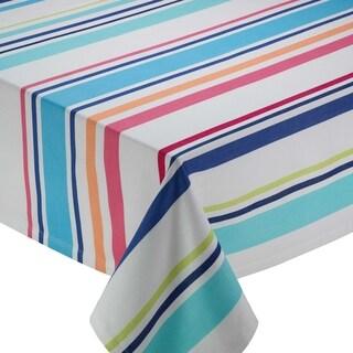 Beachy Keen Multicolor Cotton Striped Tablecloth