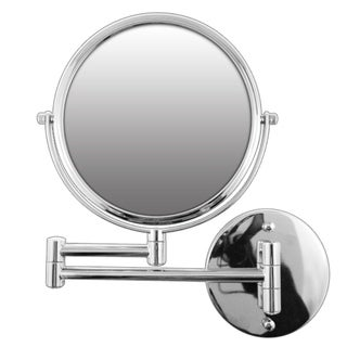 Rucci Silver Swivel Arm Wall-mounted Mirror and 3-in-1 Compact Mirror
