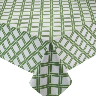 Bamboo Lattice Printed 52-inch x 52-inch Tablecloth
