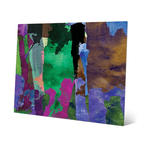 Purple Forest Abstract Metal Wall Art Print