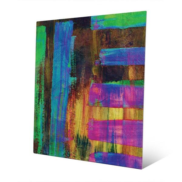 'Eleko' Aluminum Abstract Wall Art Print