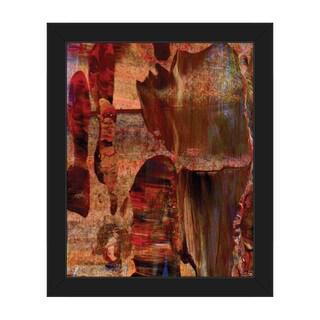 'Red Valley Beginning' Framed Canvas Wall Art Print