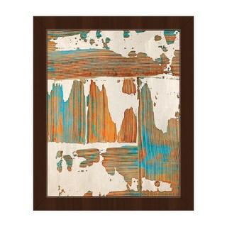 Debris Framed Canvas Abstract Wall Art Print