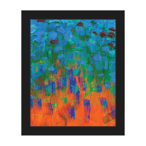 'Aodh' Framed Canvas Abstract Wall Art Print
