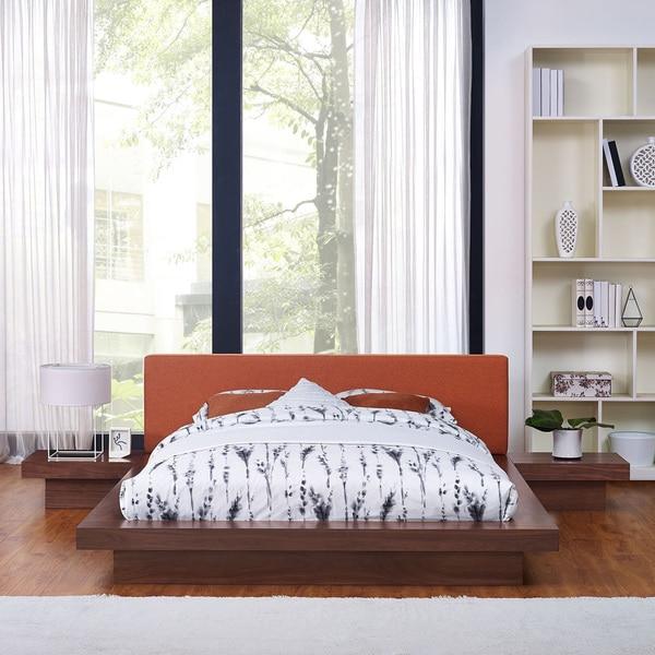 Freja 3 Piece Queen Fabric Bedroom Set. Opens flyout.