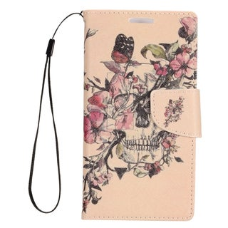 Insten Colorful Flowers Leather Case Cover Lanyard with Stand/ Wallet Flap Pouch/ Photo Display For Samsung Galaxy S7