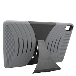 Insten Gray/ Black Soft Silicone/ PC Dual Layer Hybrid Rubber Case Cover with Stand For HTC Google Nexus 9