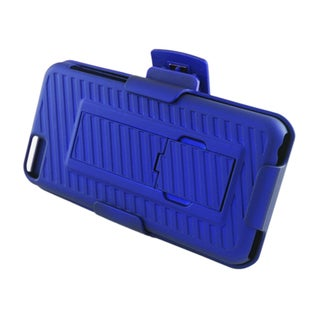 Insten Blue Hard Snap-on Rubberized Matte Case Cover with Stand/ Holster For Apple iPhone 5C