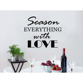 Quote Season EVERYTHING with LOVE Home Decor Art Bedroom Design Interior Sticker Decal size 44x44 Co