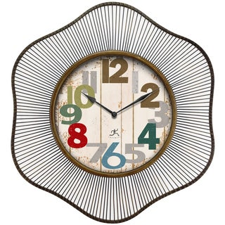 Infinity Instruments Lace Multicolor Aluminum and Glass 31.5-inch Round Indoor Wall Clock