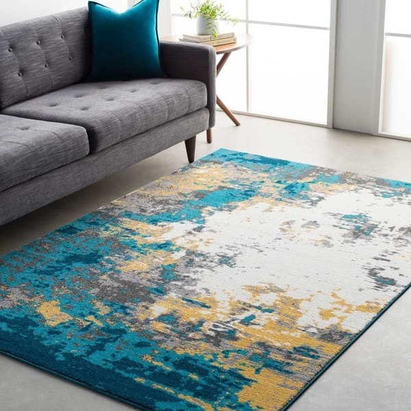 Shop Avery Abstract Watercolor Area Rug 5 3 Quot X 7 6 Quot On