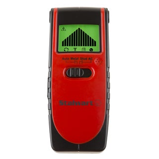 Stud Finder - 3-in-1 Compact Electronic Wood and Metal Detector and Live Wire Sensor with Backlit LCD Screen by Stalwart - Red