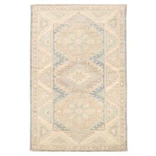 Herat Oriental Afghan Hand-knotted Vegetable Dye Kazak Wool Rug (3'3 x 4'11)