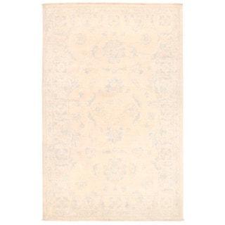 Herat Oriental Afghan Hand-knotted Vegetable Dye Oushak Wool Rug (3'2 x 4'10)