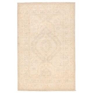 Herat Oriental Afghan Hand-knotted Vegetable Dye Oushak Wool Rug (3'2 x 5')