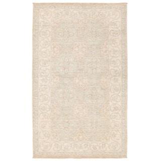 Herat Oriental Afghan Hand-knotted Vegetable Dye Khotan Wool Rug (2'10 x 4'9)