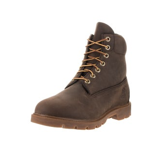Timberland Men's Brown Synthetic Leather 6-inch Basic Boots 8.5 Size(As Is Item)