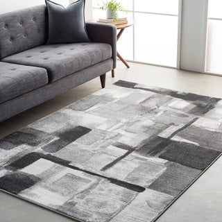 Ryan Modern Squares Abstract Rug (7'11 x 10') (Option: Blue)