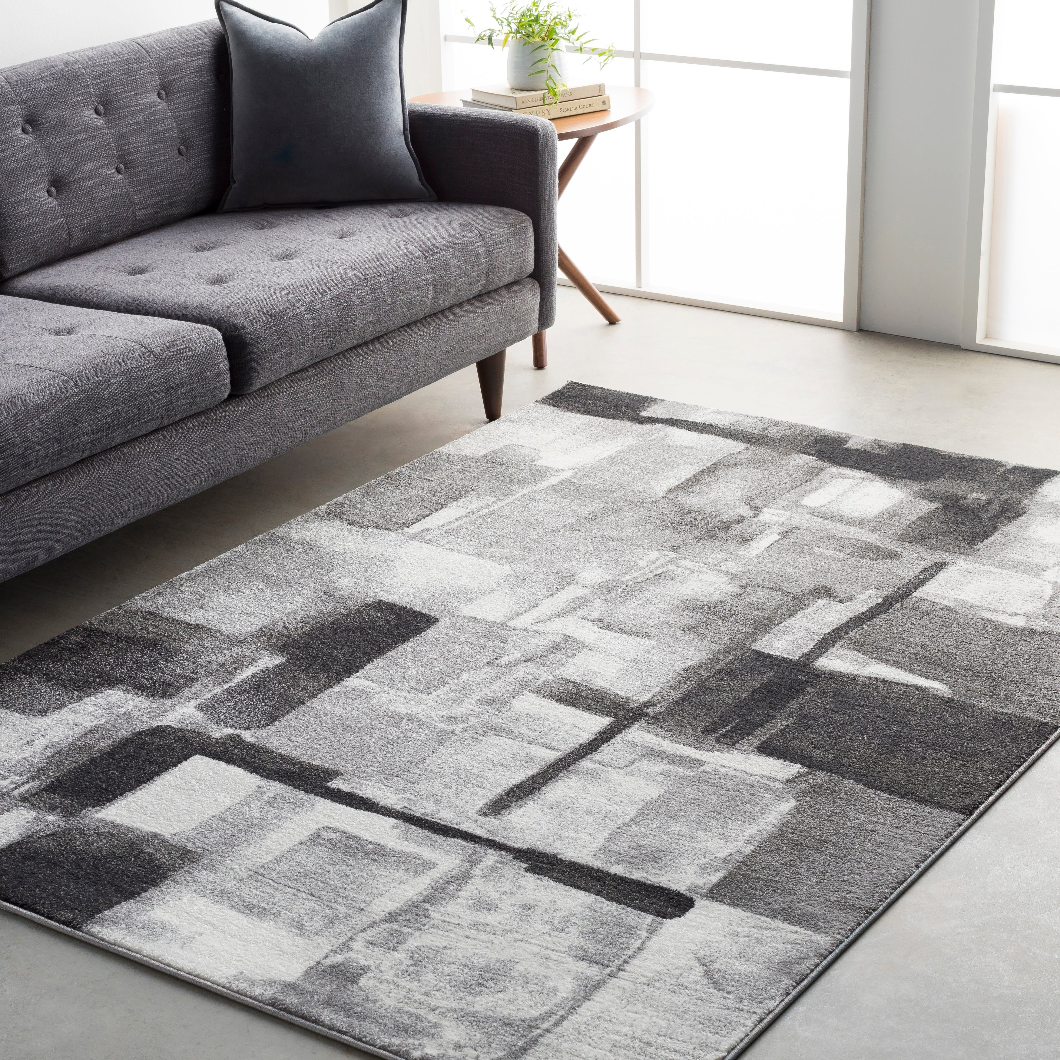 Ryan Modern Squares Abstract Area Rug