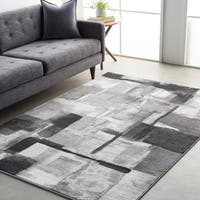 Clay Alder Home Fisher Squares Geometric Polypropylene Area Rug - 2' x 3'