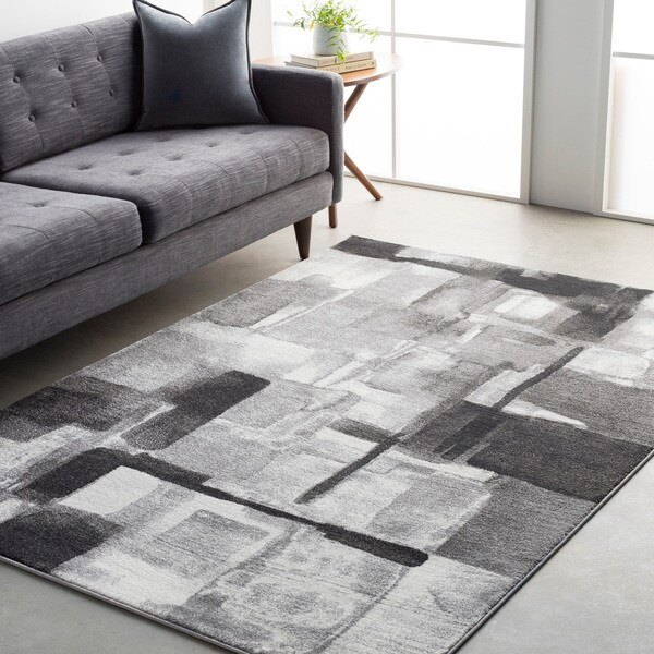 Ryan Modern Squares Abstract Rug (2' x 3')